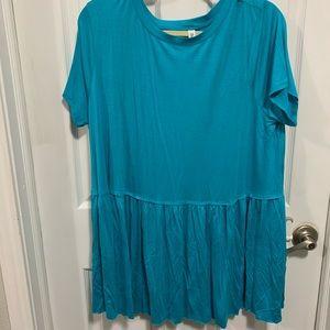 Teal plus size blouse
